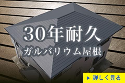 30年耐久のガルバリウム屋根