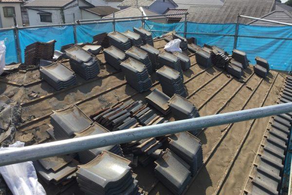 川崎市高津区 瓦屋根からスレート屋根に屋根葺き替え工事 ケイミューコロニアルクアッド